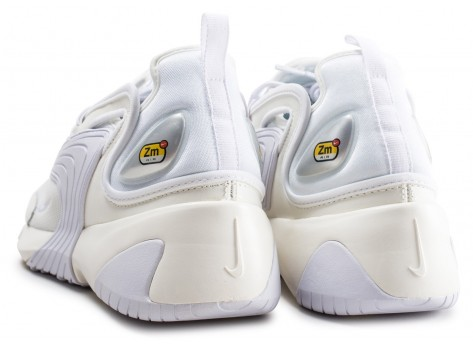 Chaussures Nike Zoom 2K blanche vue dessous