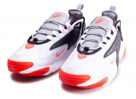 Chaussures Nike Zoom 2K blanc rouge vue intérieure