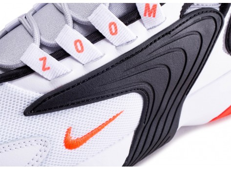 Chaussures Nike Zoom 2K blanc rouge vue dessus