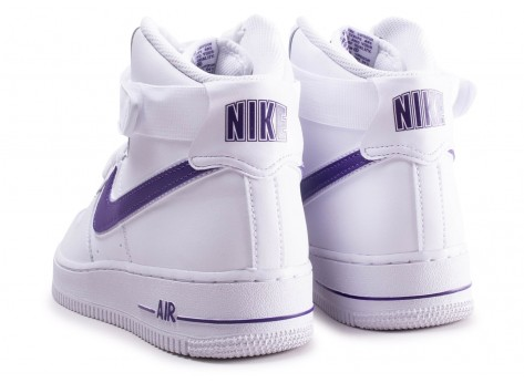 Chaussures Nike Air Force 1 High Court Purple vue dessous