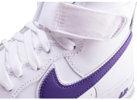 Chaussures Nike Air Force 1 High Court Purple vue dessus