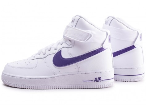 Chaussures Nike Air Force 1 High Court Purple vue extérieure