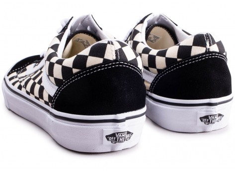 Chaussures Vans Old Skool Primary Check  vue dessous