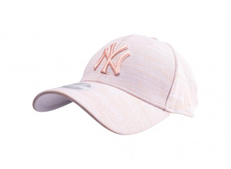 Casquettes New Era Casquette 9/40 Engineered Fit rose pâle NY