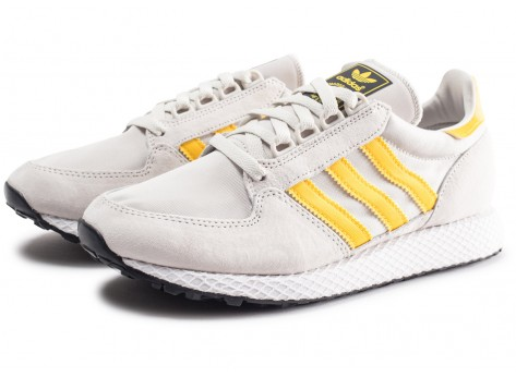 Chaussures adidas Forest Grove gris et or  vue intérieure