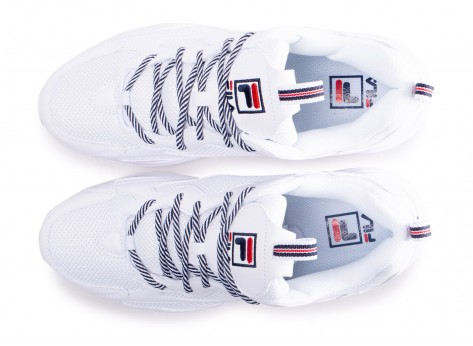 Chaussures Fila Ray Tracer blanc vue arrière