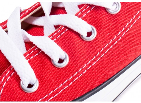 Chaussures Converse Chuck Taylor All Star enfant basse rouge vue dessus