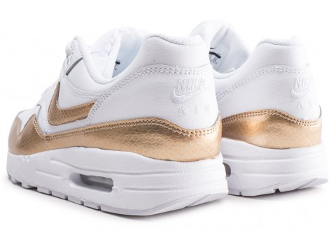 Chaussures Nike Air Max 1 EP blanche et or junior vue dessous