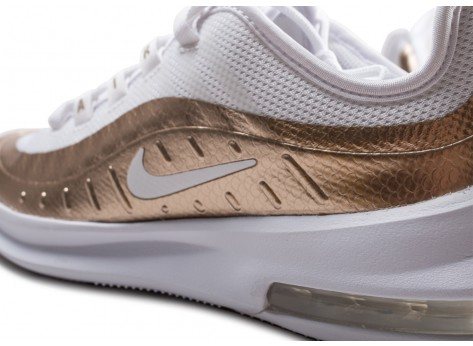 Chaussures Nike Air Max Axis blanche et or junior vue dessus