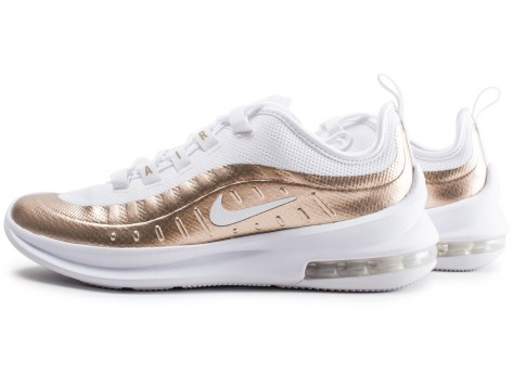Chaussures Nike Air Max Axis blanche et or junior vue extérieure