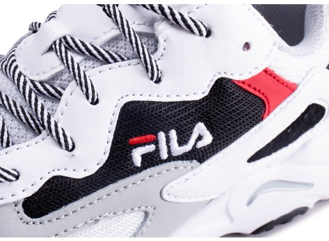 Chaussures Fila Ray Tracer blanc noir rouge junior vue dessus