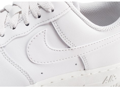 Chaussures Nike Air Force 1 '07 Essential blanche et grise femme vue dessus