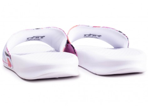 Chaussures Nike Benassi Print Just Do It blanche femme vue dessous