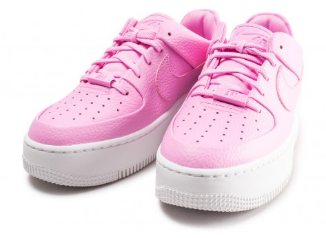 Chaussures Nike Air Force 1 Sage Low rose femme vue intérieure