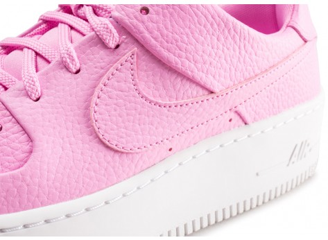 Chaussures Nike Air Force 1 Sage Low rose femme vue dessus