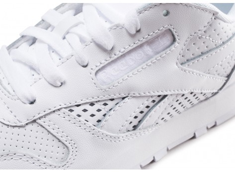 Chaussures Reebok Classic Leather blanche femme vue dessus