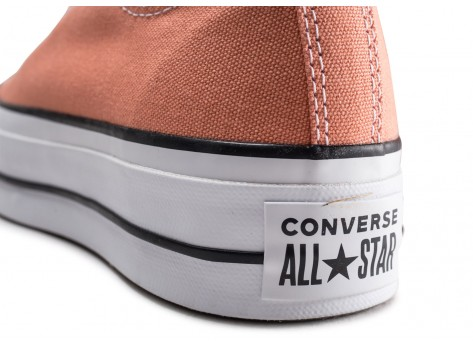 Chaussures Converse Chuck Taylor All Star Lift rose  vue dessus
