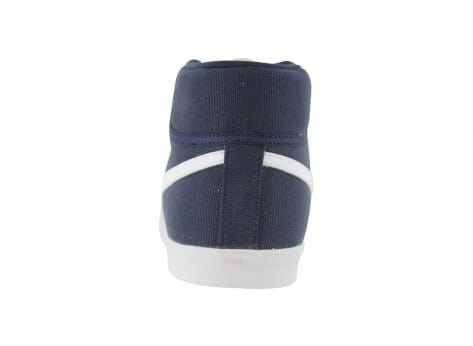 outlet store d7354 61ef2 ... Chaussures Nike Eastham Toile Mid Bleu Marine vue avant ...