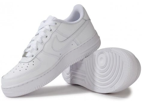 Chaussures Nike Air Force 1 junior blanche vue intérieure