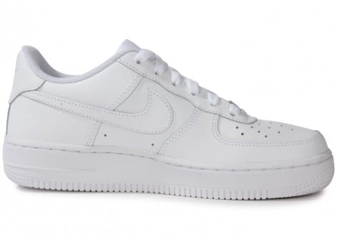 Chaussures Nike Air Force 1 junior blanche vue dessous