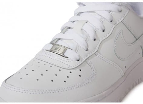 Chaussures Nike Air Force 1 junior blanche vue dessus