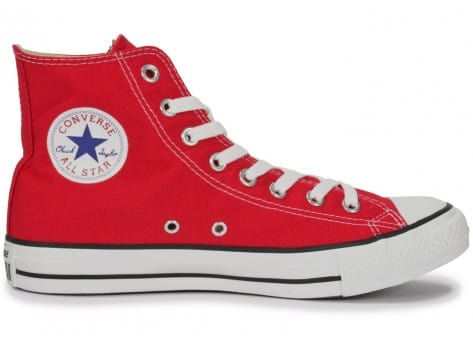 Chaussures Converse Chuck Taylor All-star Hi Rouge vue dessous