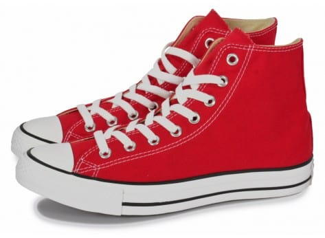 Chaussures Converse Chuck Taylor All-star Hi Rouge vue extérieure