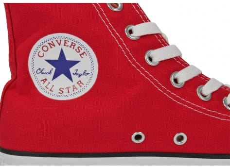 Chaussures Converse Chuck Taylor All-star Hi Rouge vue dessus