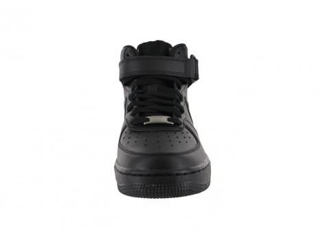 Chaussures Nike Air Force 1 mid J Triple black vue avant