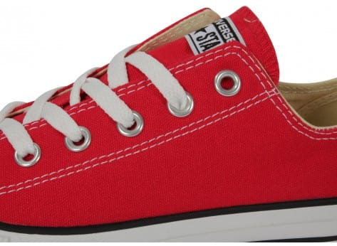 Chaussures Converse Chuck Taylor All-star Low Rouge vue dessus