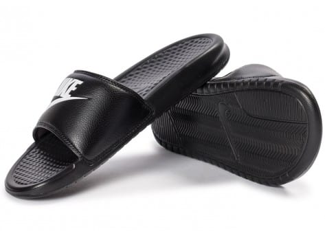 Chaussures Nike Benassi Just Do It noire vue avant