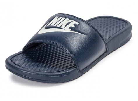 Chaussures Nike Benassi Just Do It bleu marine vue avant