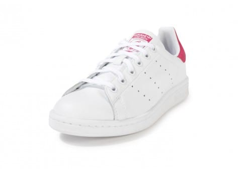 Chaussures adidas Stan Smith blanche et rose vue avant