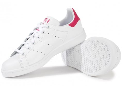 Chaussures adidas Stan Smith blanche et rose vue intérieure