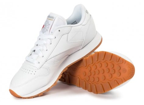 Chaussures Reebok Classic Leather W Gum blanche vue intérieure