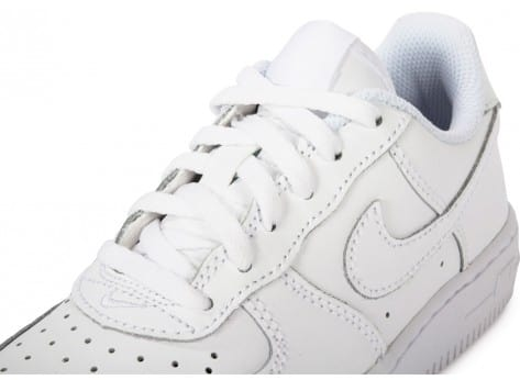 Chaussures Nike Air Force 1 Enfant Blanche vue dessus