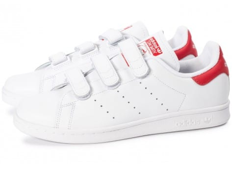 Blanc Homme Cf Baskets Stan Velcro Chaussures Smith Rouge Adidas PX0O8knw