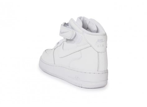 Chaussures Nike Air Force 1 Mid 07 Blanche vue arrière