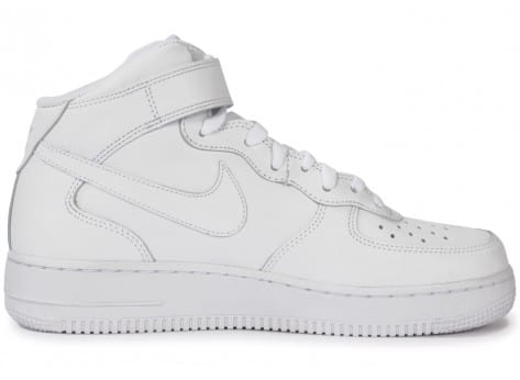 Chaussures Nike Air Force 1 Mid 07 Blanche vue dessous