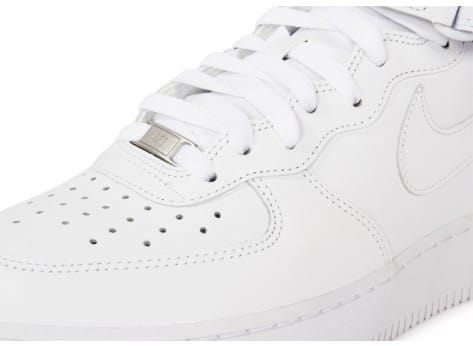 Chaussures Nike Air Force 1 Mid 07 Blanche vue dessus