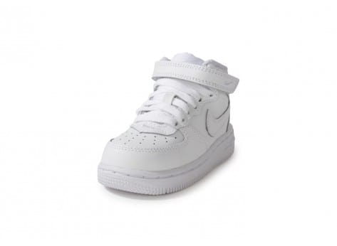 Chaussures Nike Air Force 1 Mid Blanche vue avant