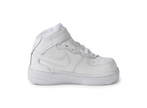 Chaussures Nike Air Force 1 Mid Blanche vue dessous