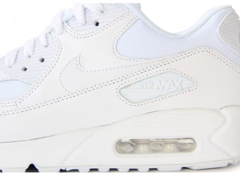 Chaussures Nike Air Max 90 Essential Blanche vue dessus