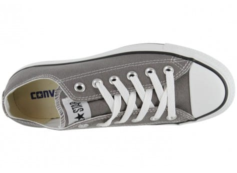 Chaussures Converse Chuck Taylor All Star basse grise vue dessus
