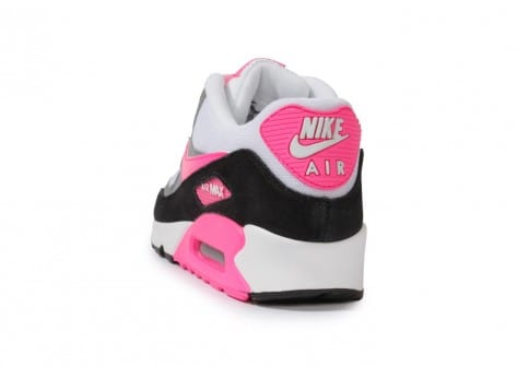 Chaussures Nike Air Max 90 Essential Blanche Rose vue arrière