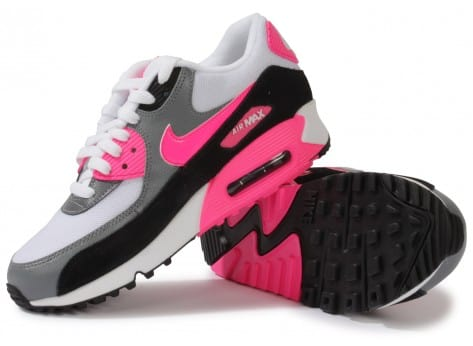 Chaussures Nike Air Max 90 Essential Blanche Rose vue intérieure