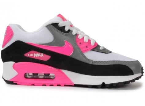 Chaussures Nike Air Max 90 Essential Blanche Rose vue dessous