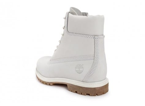 Chaussures Timberland 6-Inch Premium Boots Blanche vue arrière