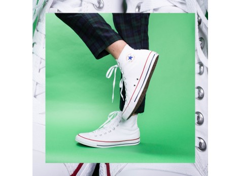 Chaussures Converse Chuck Taylor All Star Hi blanche vue dessus