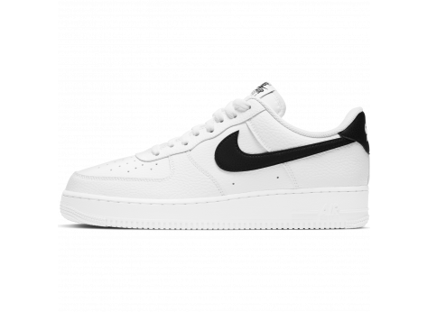 Nike Air Force 1 '07 blanche et noire homme - Chaussures Baskets ...